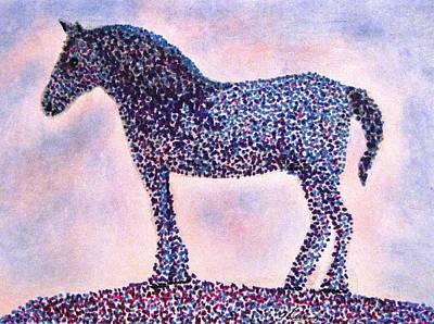 Drawing - Polka Dot Percheron by Angela Davies