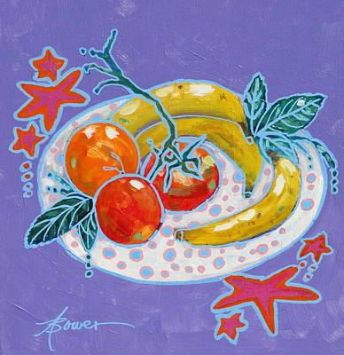 Polka-dot Plate  Art Print by Adele Bower