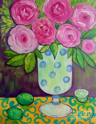 Painting - Polka-dot Vase by Rosemary Aubut
