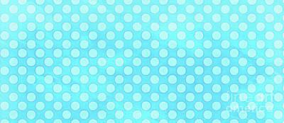 Dot Painting - Polka Dots Blue Mug by Edward Fielding