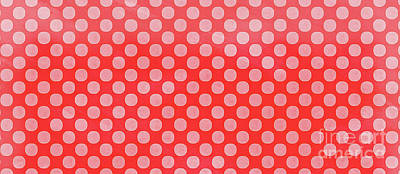 Painting - Polka Dots Red Mug by Edward Fielding