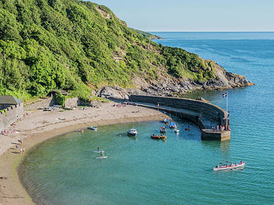 Photograph - Polkerris Beach And Harbour by Hazy Apple