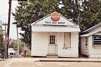 Coca-cola Signs Photograph - Polk's Meat Market by Scott Pellegrin