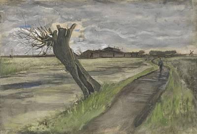 Painting - Pollard Willow The Hague July 1882 Vincent Van Gogh 1853  1890 by Artistic Panda