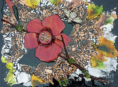 Mosaic Mixed Media - Pollination by Linda M Gardner