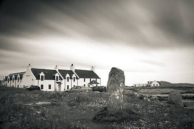 Photograph - Pollochar Inn And Standing Stone by Alex Saunders