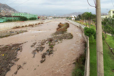 Digital Art - Polluted River In Lima by Carol Ailles