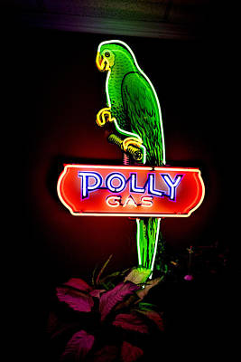 Coca-cola Signs Photograph - Polly Gas - Neon by Jon Berghoff