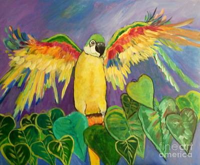 Painting - Polly Wants More Than A Cracker by Rosemary Aubut