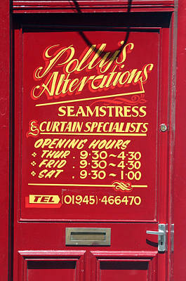 Seemstress Photograph - Polly's by Jez C Self