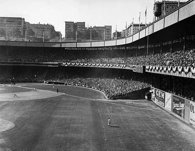 Polo Grounds, During The First Game Art Print by Everett