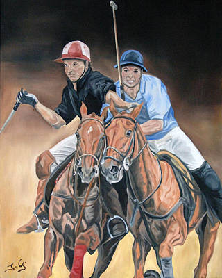 Intense Painting - Polo by Jana Goode