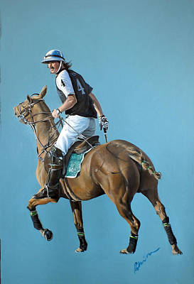 Sports Paintings - Polo Player by Robinson Fine Art
