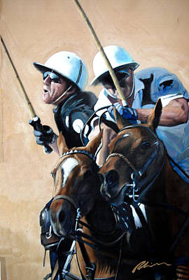 Painting - Polo Players by Mark Robinson
