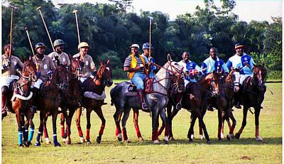 Photograph - Polo Riders by Muyiwa OSIFUYE
