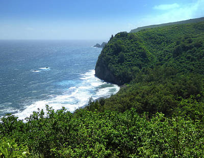 Hilo Town Photograph - Pololu Valley Lookout by Linda Dunn