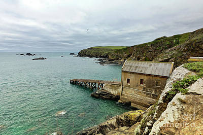 Photograph - Polpeor Cove Lifeboat Station Lizard Point  1859 by Terri Waters