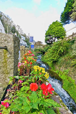 Photograph - Polperro Stream by Terri Waters