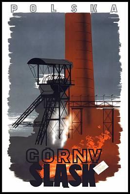 Mixed Media - Polska - Gorny Slask - Poland - Retro Travel Poster - Vintage Poster by Studio Grafiikka