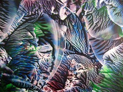 Encaustic Painting - Polychromatic Agate by Dallas Manicom
