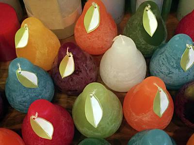 Polychromatic Pears Art Print
