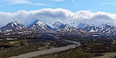 Photograph - Polychrome Pass - Denali by KJ Swan