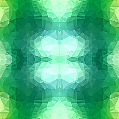 Polygon Mosaic Design Super 1 Art Print