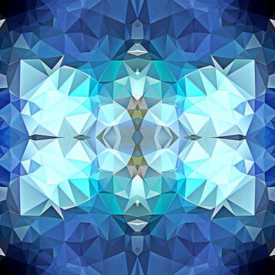 Polygon Mosaic Design Super 10 Art Print