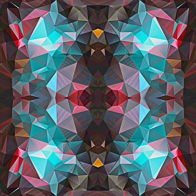 Polygon Mosaic Design Super 11 Art Print
