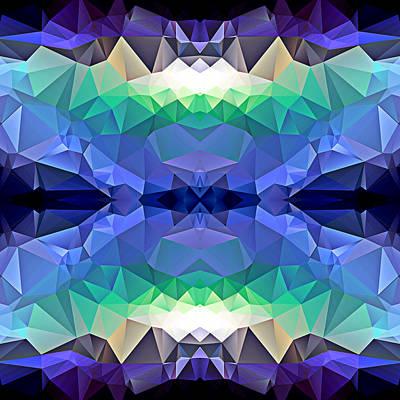 Polygon Mosaic Design Super 13 Art Print