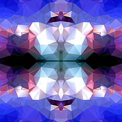 Polygon Mosaic Design Super 14 Art Print