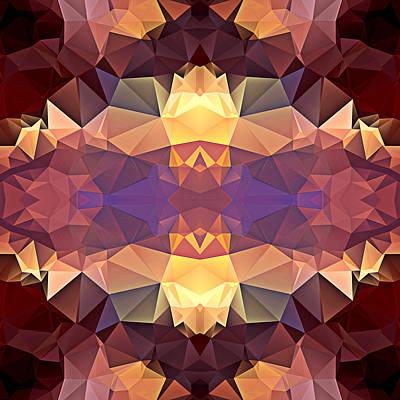 Polygon Mosaic Design Super 15 Art Print