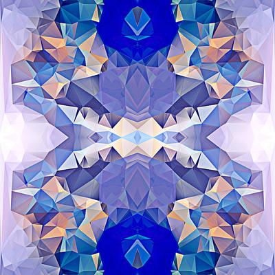 Polygon Mosaic Design Super 16 Art Print