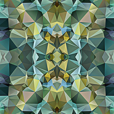Polygon Mosaic Design Super 17 Art Print