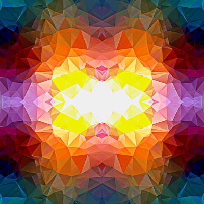 Polygon Mosaic Design Super 18 Art Print