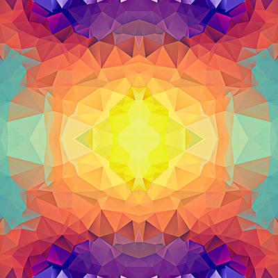 Polygon Mosaic Design Super 19 Art Print