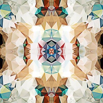 Polygon Mosaic Design Super 2 Art Print