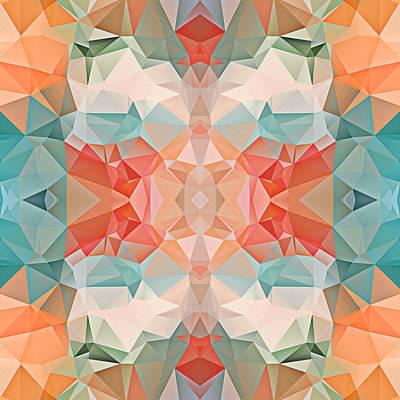 Polygon Mosaic Design Super 21 Art Print