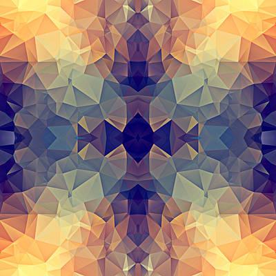Polygon Mosaic Design Super 22 Art Print
