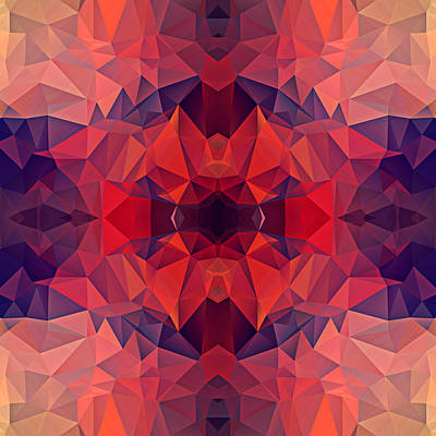 Polygon Mosaic Design Super 23 Art Print