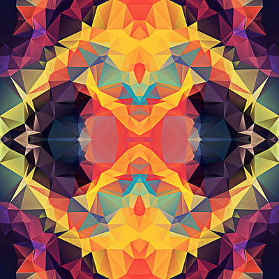Polygon Mosaic Design Super 25 Art Print