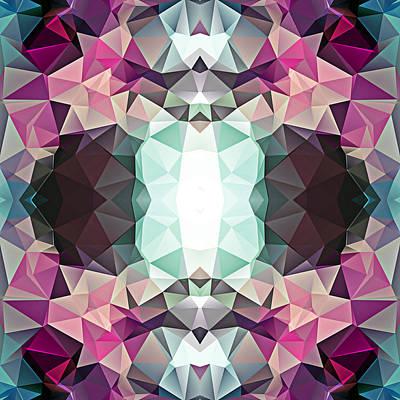 Polygon Mosaic Design Super 3 Art Print