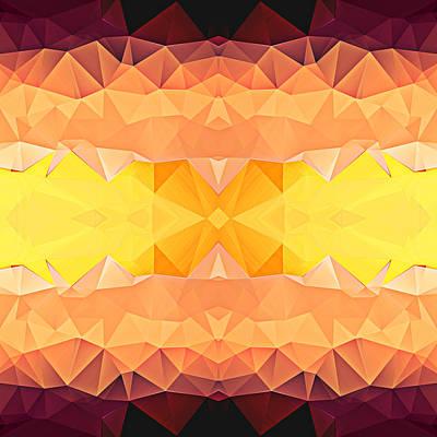 Polygon Mosaic Design Super 4 Art Print by Elaine Plesser