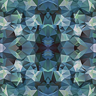 Polygon Mosaic Design Super 5 Art Print
