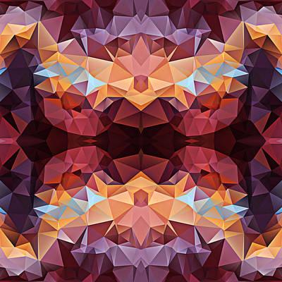 Polygon Mosaic Design Super 6 Art Print by Elaine Plesser
