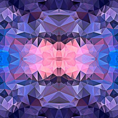 Polygon Mosaic Design Super 7 Art Print