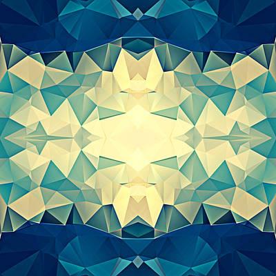 Polygon Mosaic Design Super 8 Art Print