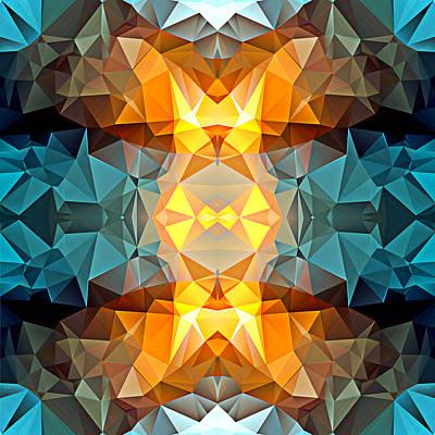Polygon Mosaic Design Super 9 Art Print
