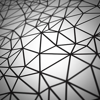 Digital Art - Polygon Pattern by Mike Taylor