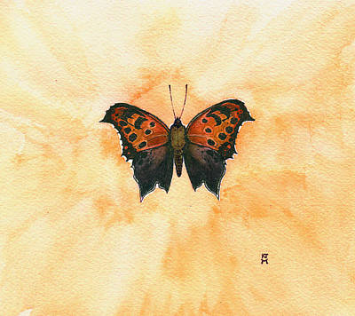 Painting - Polygonia Comma by Katherine Miller